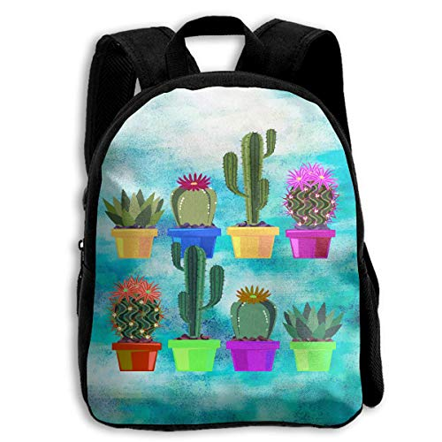 Cactus Succulent Cacti Desert Garden Kid Character Casual School Backpacks Bookbag