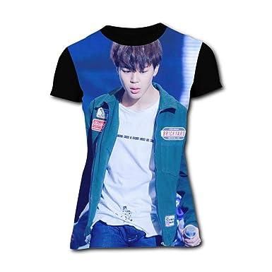 71648e91 Amazon.com: Women's Love Myself Ji-min Idol 3D T Shirt Short Sleeve T-Shirts  Crew Neck Tops Novelty Tees: Clothing