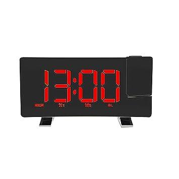 Amazon com: Metal Smooth Polish HD Projection Alarm Clock, 8