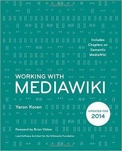 Téléchargement gratuit d'un livre d'ordinateur Working with MediaWiki 0615720307 (French Edition) PDF by Yaron Koren