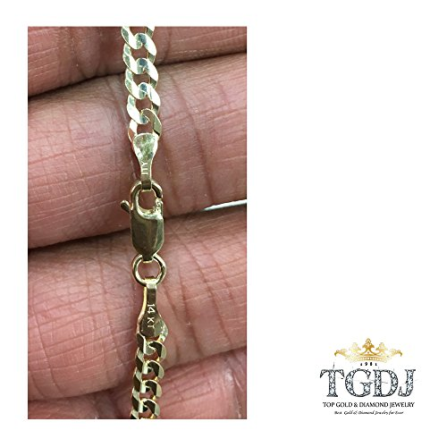 TGDJ 14k Yellow Gold 2.7 mm Curb Cuban Chain - 7/16/18/20/22/24'' (20 Inches) by Top Gold & Diamond Jewelry (Image #2)