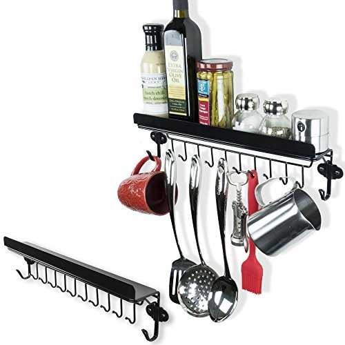 Floating Kitchen & Dining Kitchen Shelf Spice Rack With 12 H