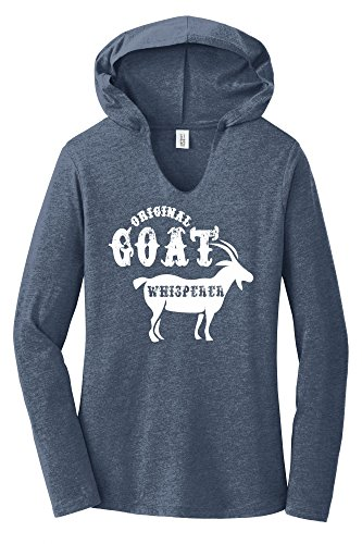 Comical Shirt Ladies Original Goat Whisperer Navy Frost
