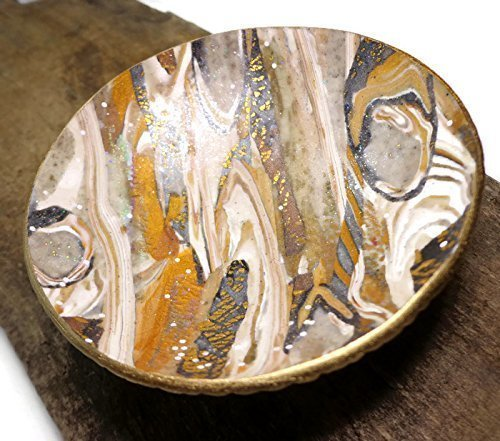 Faux Stone Catchall Ring Dish- Ready to Ship- Handmade Jewelry Holder-Trinket Dish- Polymer Clay Dish, Gifts for Him, Wedding Ring Dish