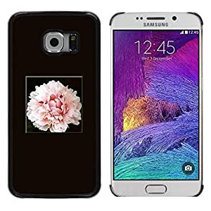 Be Good Phone Accessory // Dura Cáscara cubierta Protectora Caso Carcasa Funda de Protección para Samsung Galaxy S6 EDGE SM-G925 // Light Pink Flower Blossom