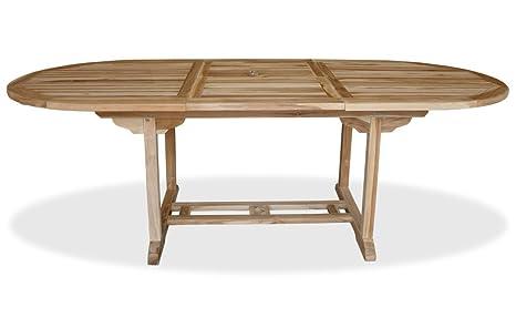 Tavolo Da Giardino Allungabile In Teak.Kmh Tavolo Da Giardino Allungabile Vero Teak 170 230 X 100