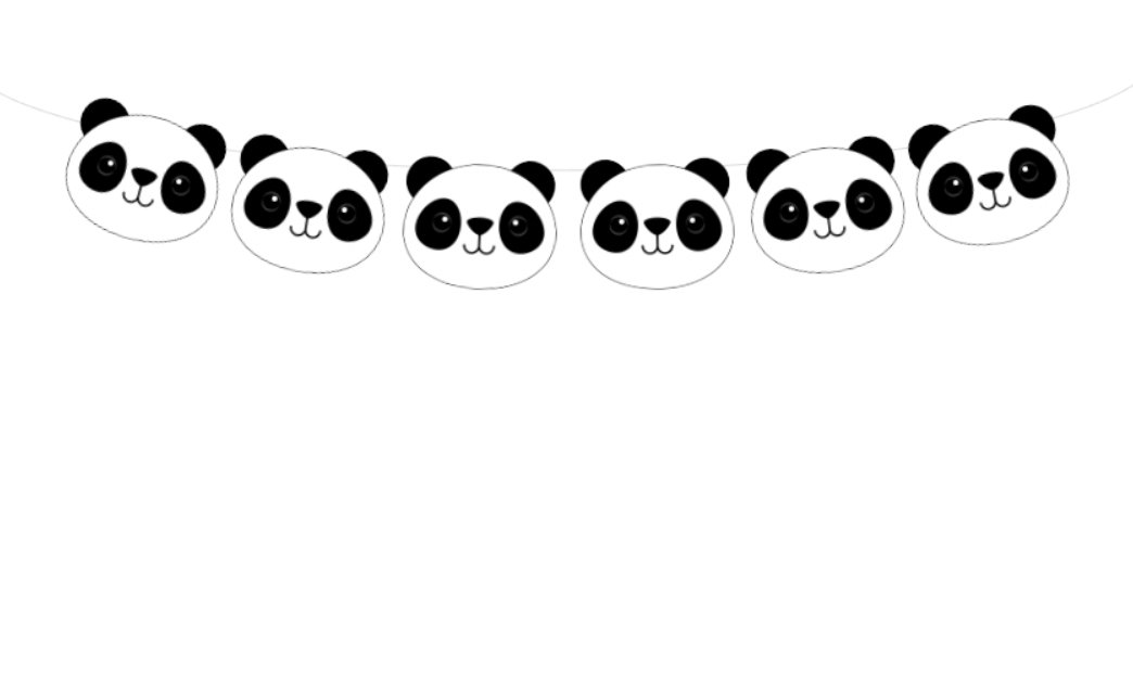 Amazon.com: Panda Head, guirnalda de oso panda, Panda Bear ...