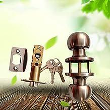 Homieco Stainless Steel Ball Door Knobs Handles Lock Latch Locks Set hardware for Room bedroom Door Wooden Door Office