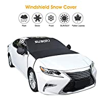 "SUAOKI Windshield Snow Cover Car Windshield Guard - Frost, Snow, Ice, Sun Protector Double Side Design Exterior Waterproof Fits Most Cars, SUV, Trunk, Van (80""x 59"")"