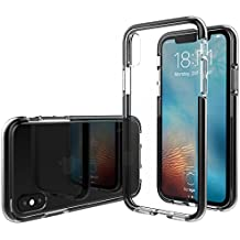 iPhone X Case, Luvvitt Prooftech iPhone X Case with Extremely Shockproof TPE Shock Absorption Bumper for iPhone X 10 (2017) - Clear / Black