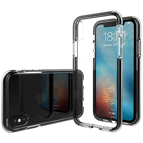 iPhone XS Case, Luvvitt Prooftech iPhone X/XS Case with Extremely Shockproof TPE Shock Absorption Bumper for iPhone X and XS with 5.8 inch Screen 2017-2018 - Clear/Black