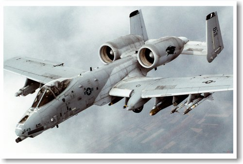 Airforce A-10 Thunderbolt Warthog - NEW Military Us Air Force Poster