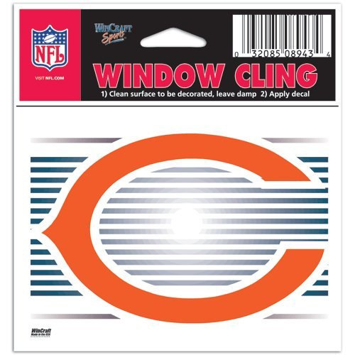 (Chicago Bears NFL 3x3 Static Window Cling Decal)