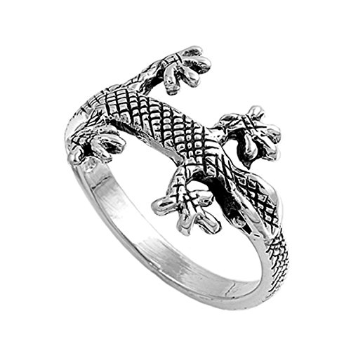 n's Gecko Lizard Ring (Sizes 5-9) (Ring Size 9) ()