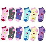 Falari 12 Pairs Girl Toddler Kids Cotton Socks
