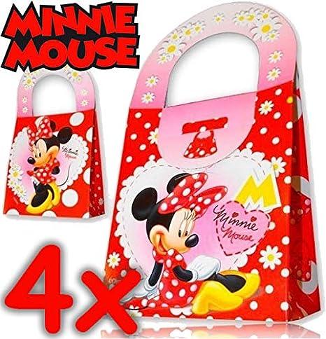 4 cajas de regalo de cartón * * de Minnie Mouse de Disney ...