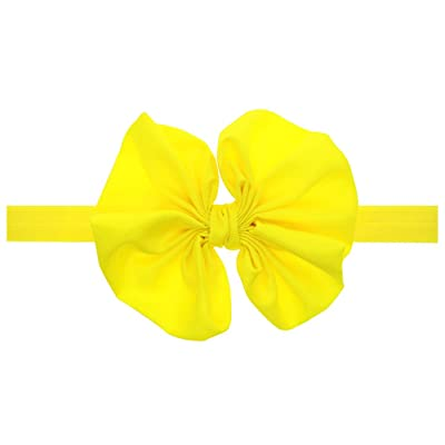 10 Pack Baby Bow Elastic Hairband Hand Sewn Flower Headband Baby Hair