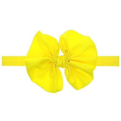 10 Pack Baby Bow Elastic Hairband Hand Sewn Flower Headband Baby Hair