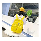 Large Girls Women Backpack Multi-Pocket Large Capacity Can Hold Laptop Waterproof for Working Shool Travel (Yellow)