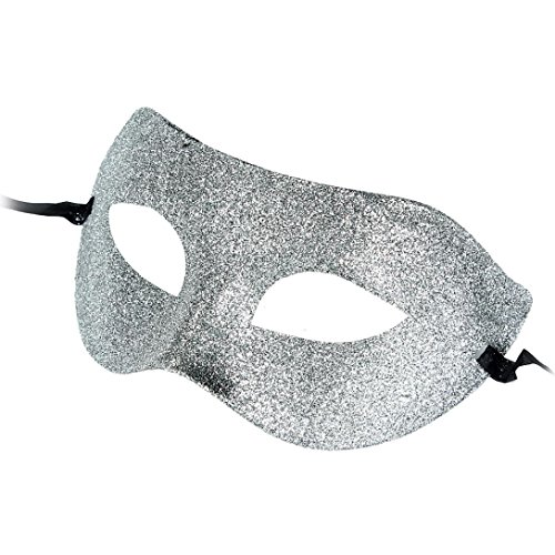 [SUPPION 2016 Masquerade Half Face Classic Mask, Powder Plastic Mask for Party Costume Ball (Silver)] (2016 Womens Halloween Costumes Diy)