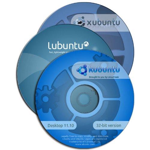 Kubuntu 11.10 - 3 Disk Set [ Kubuntu, Lubuntu, and Xubuntu ] - plus Quick-Reference Guide by Linuxfreak