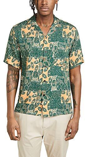 Portuguese Flannel Men's Harlam Camp Shirt, Multi, X-Large ()