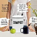 Stylish Farmhouse Kitchen Compost Bin - 100% Rust