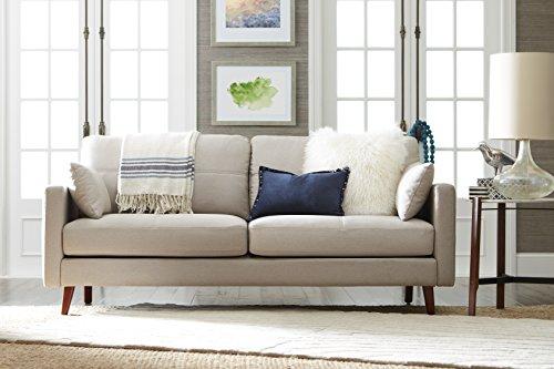 Chenille Ivory Fabric - Elle Decor Alix Sofa, Chenille, Ivory