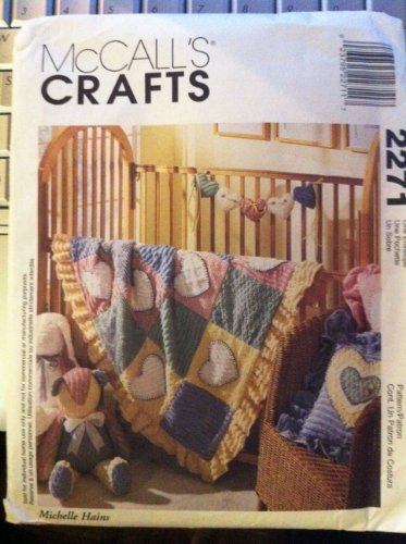 McCall's Crafts 2271 ©1999 Chenille Bunny, Bear, Pillow, Quilt or Garland