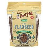BOB'S RED MILL, Organic Flaxseed, Brown, Pack of 6, Size 13 OZ, (Gluten Free Kosher 95%+ Organic)