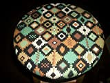 13'' Reversible Kitchen Bar Stool Slip Cover Southwest Navajo Indian to Brown