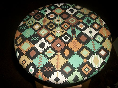 13'' Reversible Kitchen Bar Stool Slip Cover Southwest Navajo Indian to Brown by Your Sewingroom