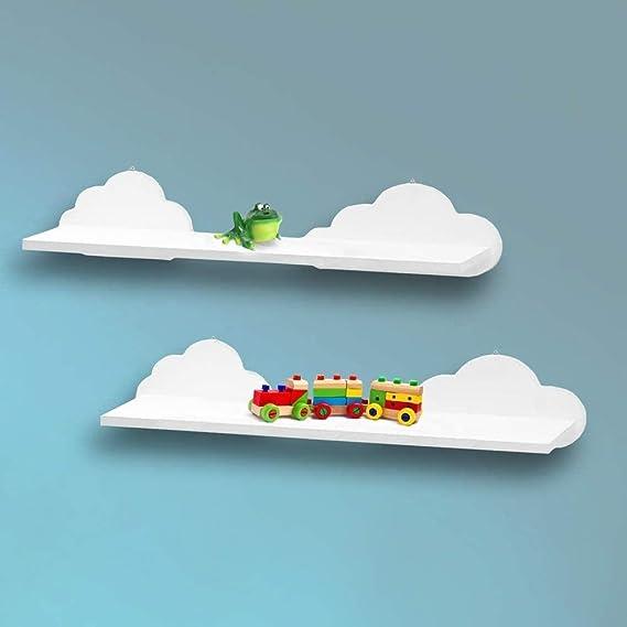 LHYLHY Estantes flotantes en Forma de Nube para niños, Sala ...