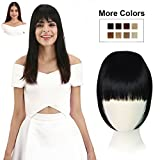 #10: REECHO Fashion One Piece Clip in Hair Bangs / Fringe / Hair Extensions Color: Natural Black