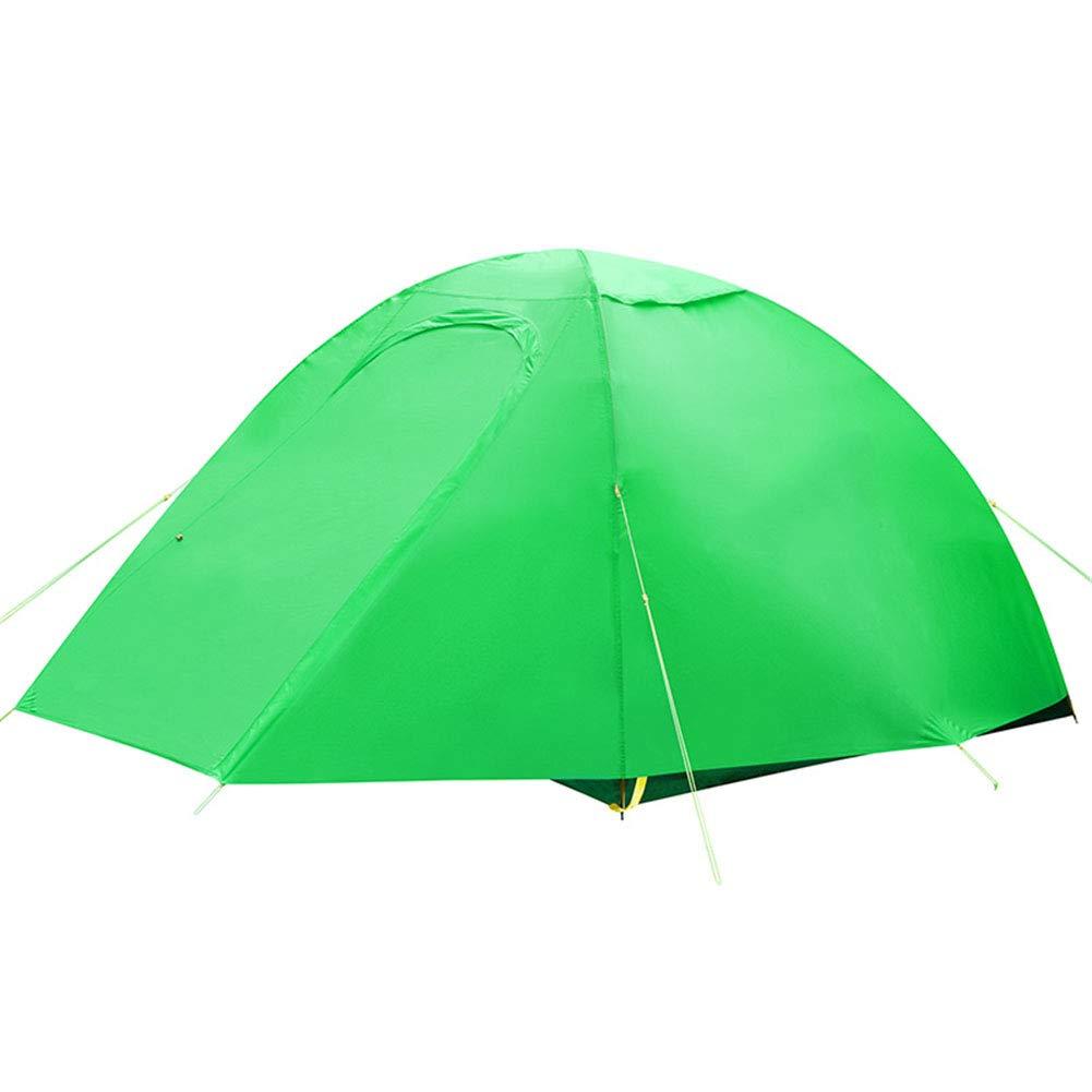 Yuhong Zelt, Doppel-Ebenen-Campingplatz Zelt 2 Person Windproof Waterproof Ultra Light Beach Zelte