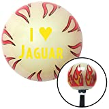 American Shifter 213318 Ivory Flame Shift Knob with M16 x 1.5 Insert (Yellow I <3 JAGUAR)