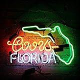 Florida Neon Sign Handmade Glass Light for Gift Room Decor