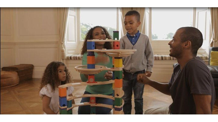 Quadrilla Qua E6012 Wooden Marble Run Builder Music Motion