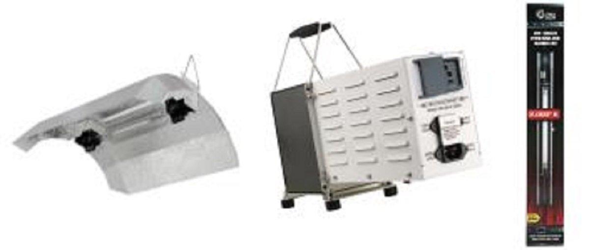 1000w Double Ended Lighting Package - Hard Core DE Ballast, Flex DE Reflector & Ultra Sun DE HPS Lamp