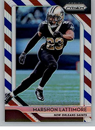2018 Panini Prizm Prizm Red White and Blue Football  68 Marshon Lattimore  New Orleans Saints 9b32d07da