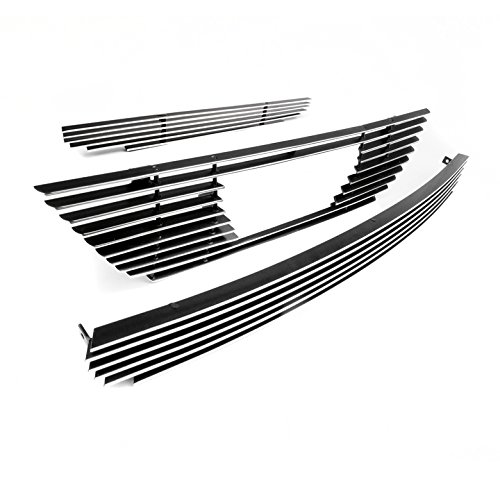 ZMAUTOPARTS Ford Mustang Hood Scoop+Upper+Bumper Billet Grille Grill (Upper Billet Grille Hood Scoop)