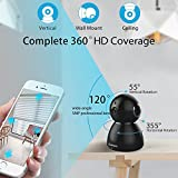 Wifi Camera, Security Pan/Tilt  Wireless IP Camera, Webcam 1080P Home Indoor Dome Baby Monitor, Surveillance Camera with Optional Amazon AMS Cloud-30 Days Free Trial Remote Home Monitoring System for Pet/Elder Video Monitoring Guard