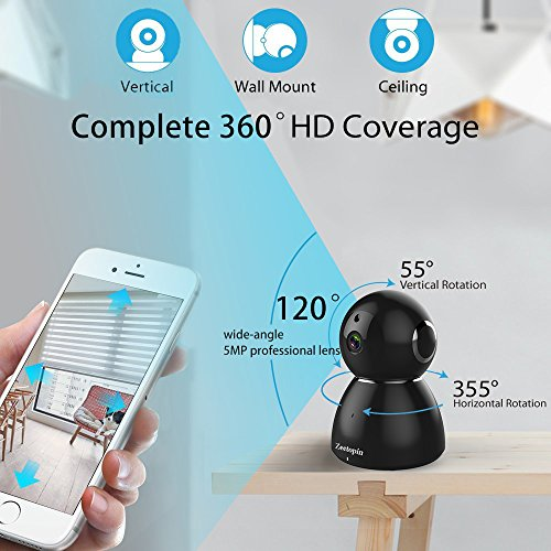Zeetopin-1080P-Wifi-Security-Camera-Indoor-Dome-Surveillance-Cams-Pan-Tilt-Zoom-Wireless-IP-camera-Remote-Home-Monitoring-Systems-DayNight-Webcams-Cloud-Storage-for-Pet-Baby-Video-Monitor