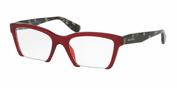 ce742af2830 Miu Miu MU 04NV Rasoir Women Square Eyeglasses (Amaranth Frame TKW ...