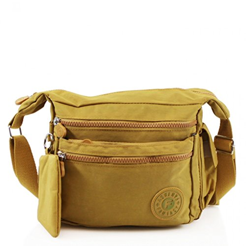 Holiday Girls For Great D13cm Women's YELLOW MUSTARD 507 LeahWard Cross Body W24cm H20cm Handbags Shoulder Handbags x Brand Nylon Bag Bags x O0wBq7w