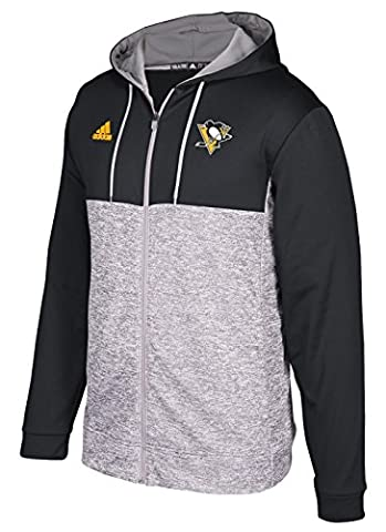 NHL Pittsburgh Penguins Authentic Full Zip Hood, Graphite, Medium - Pittsburgh Penguins Jacket