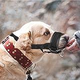 ONSON Dog Muzzle - Adjustable and Comfortable Nylon Muzzles for Small Medium Large Extra Dog - Stops Biting, Safe Retraining of Aggressive Dogs (XXL)