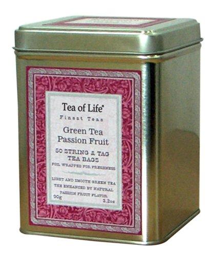 Tea of Life Green Tea, Passion Fruit, 3.2 Ounce