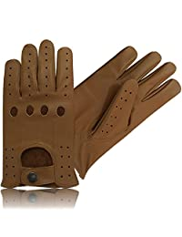 TOP QUALITY REAL SOFT LEATHER MENS DRIVING GLOVES TAN LARGE 507