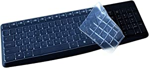 Ultra Thin Desktop PC Silicone Clear Keyboard Cover Skin Protector Compatible for Logitech MK235 K375S Wireless Keyboard (NOT for Other Desktop Keyboard) - Transparent
